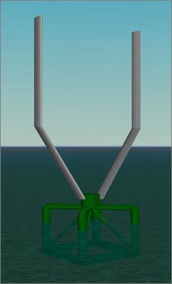 Vertical Axis Floating Wind Turbine